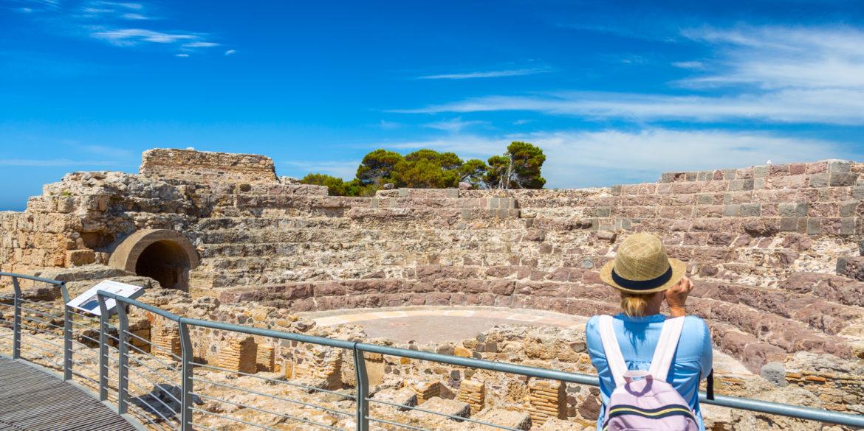 Pula, sito archeologico di Nora, teatro romano. Foto di Alessandro Addis.