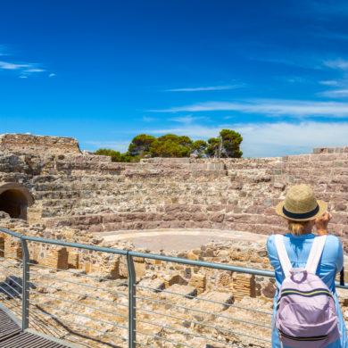 Pula, archäologische Stätte von Nora, römisches Theater. Foto von Alessandro Addis.