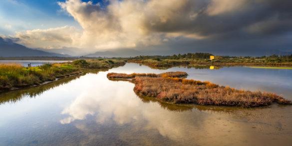 Pula, lagon de Nora. Photo par Alessandro Addis.