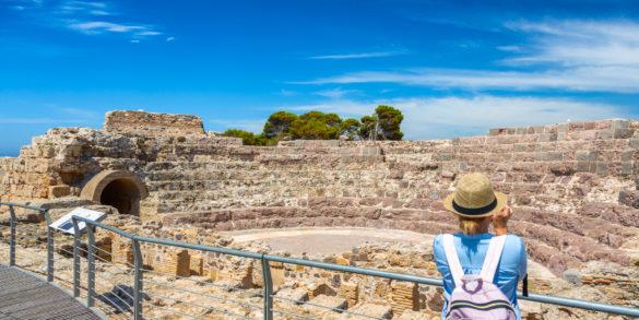 Pula, sitio arqueológico de Nora, teatro romano. Foto de Alessandro Addis.
